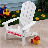 KidKraft Personalized Adirondack Chair - White - 16281D-W