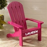 KidKraft Personalized Adirondack Chair - Pink - 16281D-P