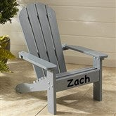 KidKraft Personalized Adirondack Chair - Grey - 16281D-G