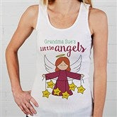 Her Lil' Angels Personalized White Tank - 16293-WT
