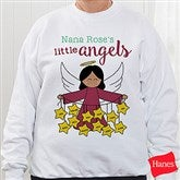 Her Lil' Angels Personalized White Sweatshirt - 16293-WS