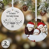 2-Sided Our 1st Family Christmas Personalized Ornament - 16295-2