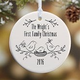 1-Sided Our 1st Family Christmas Personalized Ornament - 16295-1
