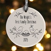 1-Sided Our 1st Family Christmas Personalized Ornament