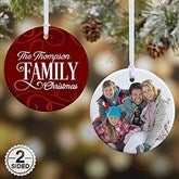2-Sided Family Christmas Personalized Ornament- Small - 16296-2