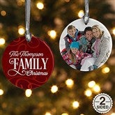2-Sided Family Christmas Personalized Ornament - 16296-2