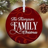 1-Sided Family Christmas Personalized Ornament - 16296-1