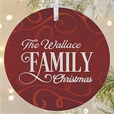 1-Sided Family Christmas Personalized Ornament-Large - 16296-1L