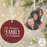 2-Sided Family Christmas Personalized Ornament- Large - 16296-2L