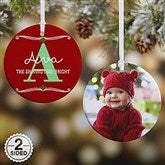 2-Sided My Name Means Personalized Photo Ornament- Small - 16297-2