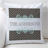 Classic Chevron Personalized Throw Pillow - 16299