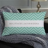 Classic Chevron Personalized Lumbar Throw Pillow - 16299-LB