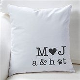 Family Initials Personalized Throw Pillow - 16300