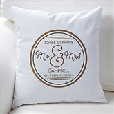 Circle Of Love Personalized Throw Pillow - 16302