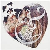 You & I  Personalized Photo Heart Puzzle - 16314