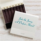 Wedding & Anniversary Personalized 30-Strike Matches - White - 16316D-W