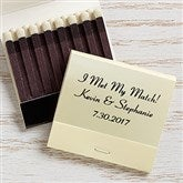 Wedding & Anniversary Personalized 30-Strike Matches - Ivory - 16316D-I