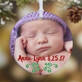 1-Sided Baby's 1st Christmas Personalized Photo Ornament - 16322-1