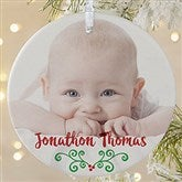 1-Sided Baby's 1st Christmas Calendar Photo Ornament- Large - 16322-1L