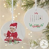 2-Sided Baby's 1st Christmas Calendar Photo Ornament- Large - 16322-2L