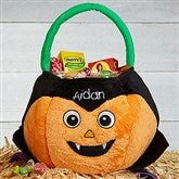 Dracula Pumpkin Personalized Plush Treat Bag