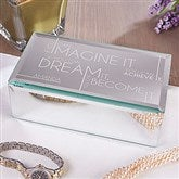 Inspiring Messages Engraved Mirrored Jewelry Box- Small - 16328-S