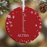 1-Sided Bridal Brigade Personalized Wedding Ornament - 16332-1