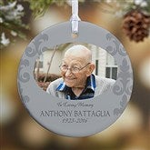 1-Sided In Loving Memory Photo Memorial Ornament For Him - 16333-1