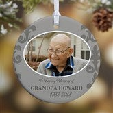 1-Sided In Loving Memory Photo Memorial Ornament For Him- Small - 16333-1