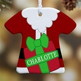 1 Sided Santa's Little Helper Personalized T-Shirt Ornament - 16334-1