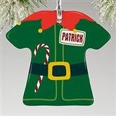 1 Sided Santa's Little Helper Personalized T-Shirt Ornament - 16334-1