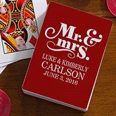 Happy Couple Personalized Playing Cards - 16354
