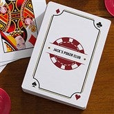 Poker Night Personalized Playing Cards - 16355