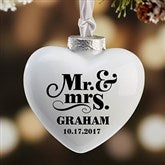 The Happy Couple Personalized Heart Deluxe Ornament - 16395