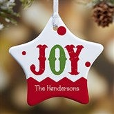 1-Sided Jester Personalized Star Ornament - 16398-1