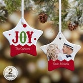 2-Sided Jester Personalized Star Ornament - 16398-2