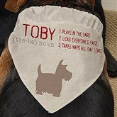 Definition of My Dog Personalized Pet Bandana - 16404