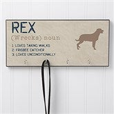 Definition of My Dog Personalized Leash Hanger - 16405