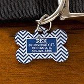 Chevron Personalized Pet ID Tag - Bone - 16409-B