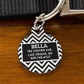 Chevron Personalized Pet ID Tag - Circle - 16409-C