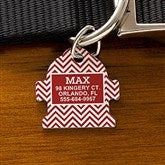 Chevron Personalized Pet ID Tag - Fire Hydrant - 16409-F