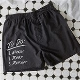 To Do List: Personalized Black Boxers - 16425-B