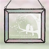 Love Birds Personalized Suncatcher - 16430