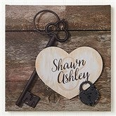 Key To My Heart Personalized Canvas Print -24