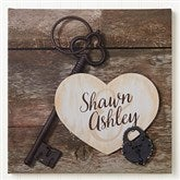 Key To My Heart Personalized Canvas Print -12