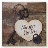 Key To My Heart Personalized Canvas Print -16