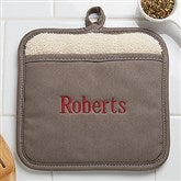Embroidered Pot Mitt- Name - 16436-N