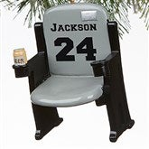 Stadium Seat Personalized 3D Athlete Ornament- Grey - 16439-G
