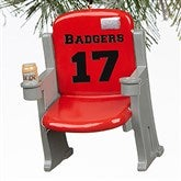 Stadium Seat Personalized 3D Athlete Ornament- Red - 16439-R