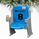 Stadium Seat Personalized 3D Athlete Ornament- Blue - 16439-BL